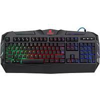 Клавиатура проводная игровая Defender Werewolf GK-120DL, ENG/RUS, USB, RGB подсветка, НОВИНКА!