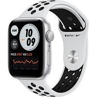 Apple Watch Nike SE GPS, 44mm Silver Aluminium Case with Pure Platinum/Black Nike Sport Band - Regular, Model