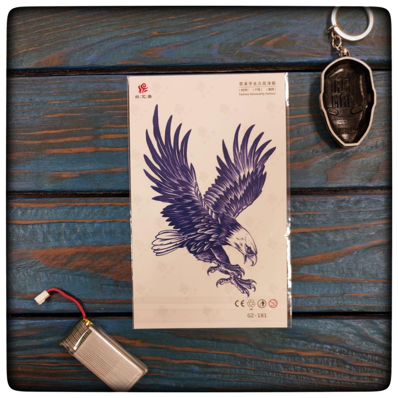 """Водостойкая временная тату наклейка """" Орел свободы"""""""
