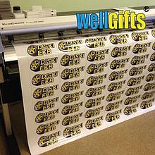 Печать наклеек и стикеров с контурной резкой на виниловой пленке