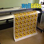 Печать наклеек и стикеров с контурной резкой на виниловой пленке, фото 2