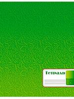 """Тетрадь 96 листов А4, обложка мел. карт. """"Зеленая"""" клетка (Апплика)"""