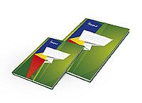 Тетрадь А4 96 листов твердая зеленая обложка, матовая