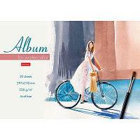 """Альбом для акварели """"Hatber"""", 20 листов, А4, 220гр/м2, на склейке, серия """"Летняя прогулка"""""""