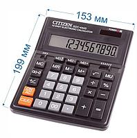 Калькулятор настольный Citizen SDC-444S 12-разрядный 199x153x31мм, черный