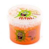 "Лизун ""Слайм Плюх"" оранжевый с шариками, контейнер 90 гр."