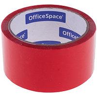 Клейкая лента упаковочная OfficeSpace, 48 мм. х 40 метров, 45 мкм, красная, ШК