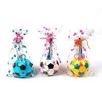 Набор настольный детский, «Футбольный мяч», из 5 предметов: 2 карандаша, линейка, ножницы, подставка
