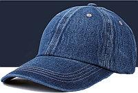 Бейсболка джинсовая, темно-синего цвета