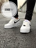 Кросс Nike air force low белые чер лого, фото 1