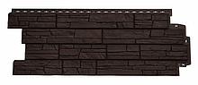 Панель фасадная GL полипропиленовая. Сланец. Стандарт коричневый