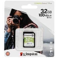 Карта памяти SD, Kingston Canvas Select Plus, 32GB, SDS2-32GB, UHS-I, R100, V10