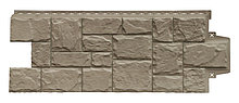 Панель фасадная GL полипропиленовая. Крупный камень. ЭЛИТ. какао