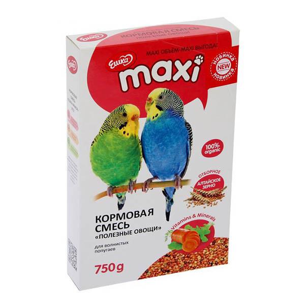 Ешка для волнистых попугаев, с овощами, уп. 750гр.