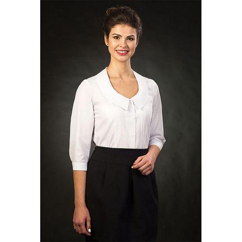 "Белая блузка для офиса ""Софья"" 44 размер"