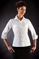 "Белая блузка для офиса ""Стелла"" 42 размер"
