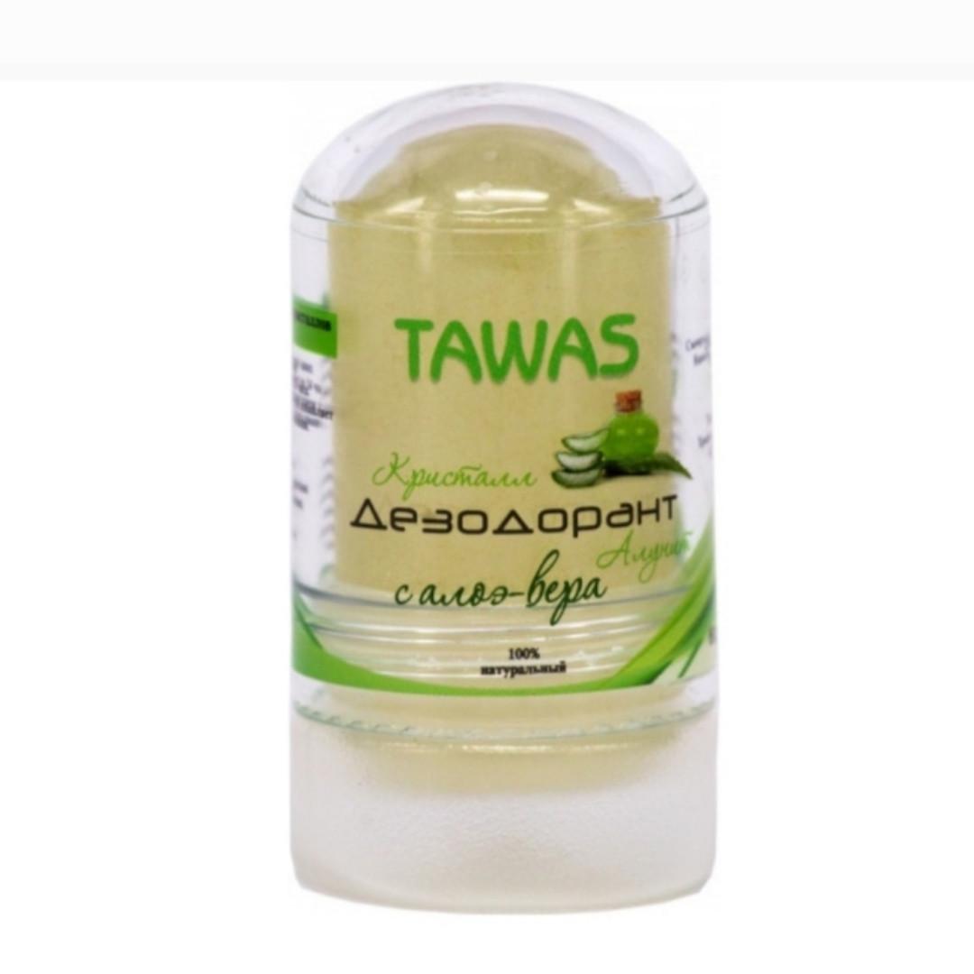 Дезодорант-алунит заживляющий с алоэ вера Tawas 60 gr