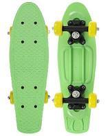 Скейтборд 42 х 12 см, колеса PVC 50 мм, пластиковая рама, цвет салатовый 5290558