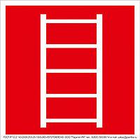 """ФЭС-24 Знак F 03 """"Пожарная лестница"""" на фотолюминесцентной пленке, размер 100*100"""