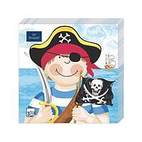 """Салфетки 33х33см, 3 сл., """"Маленькие пираты"""", Бумага, 20 шт"""