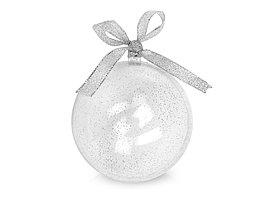 Футляр в виде новогодней игрушки, прозрачный/серебристый