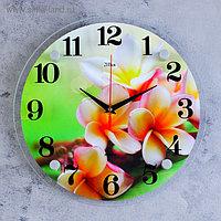"""Часы настенные, серия: Цветы, """"Цветки"""", 30х30 см, микс"""