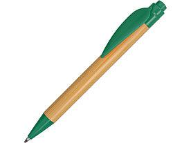 Ручка шариковая Листок, бамбук/зеленый