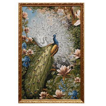 """Гобеленовая картина """"В райском саду"""" 52*78 см рамка микс"""