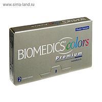 Цветные контактные линзы Biomedics Colors Premium - Dark Blue, -6.0/8,7, в наборе 2шт