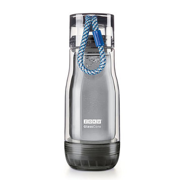 Бутылка zoku active 325 мл синяя