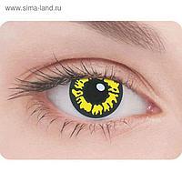 Карнавальные контактные линзы Adria Crazy - Волчий глаз, в наборе 1шт