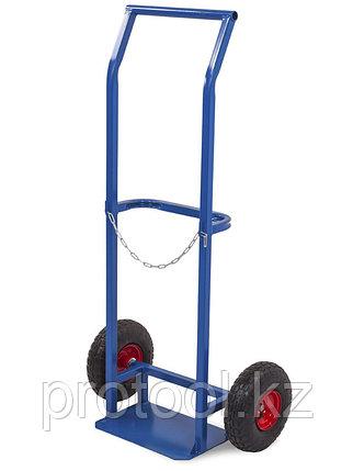 Тележка для баллонов ПР-1 пропановых, 1 баллон (2 колеса d 250мм, лит. резина), фото 2