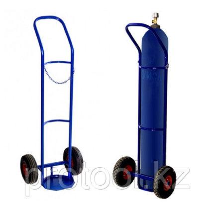 Тележка для баллонов ГБ-1 газовых, 1 баллон (2 колеса d 250мм, лит. резина), фото 2