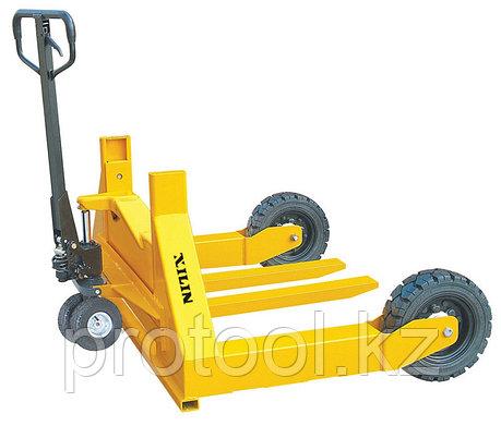 Тележка гидравлическая XILIN г/п 1500 кг HW для бездорожья (резин.колеса), фото 2