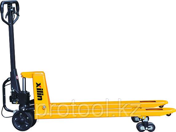 Тележка гидравлическая г/п 2500 кг XILIN BFA с механическим приводом (полиуретан.колеса), фото 2