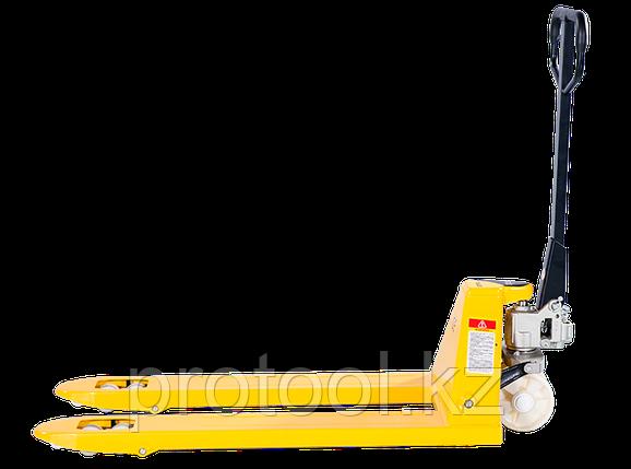 Тележка гидравлическая TOR PWH35-II 2,5 т 2400 мм (нейлоновые колеса), фото 2