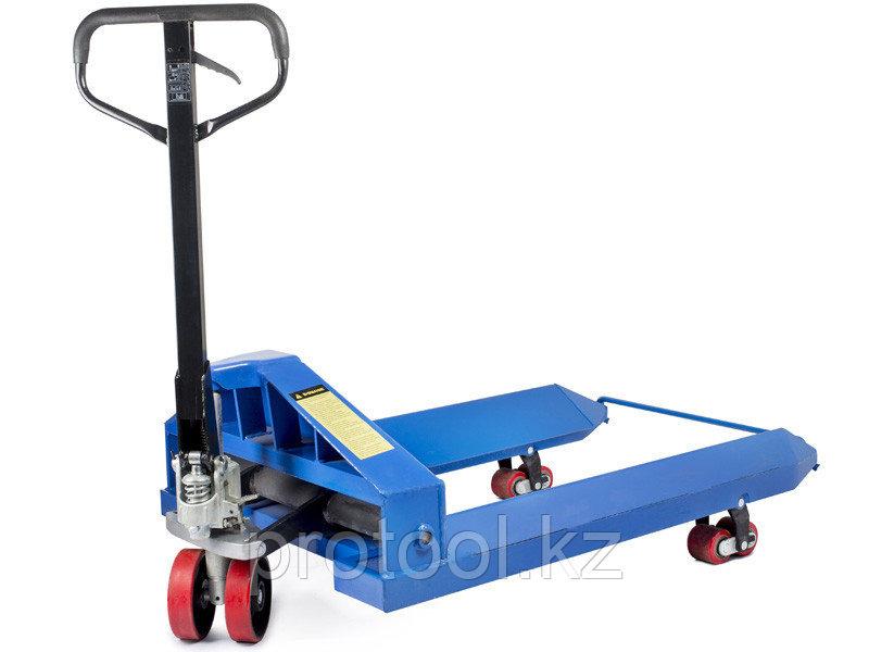 Тележка гидравлическая TOR ZT 2.5T - 1150*1150 для рулонов (полиуретановые колеса)