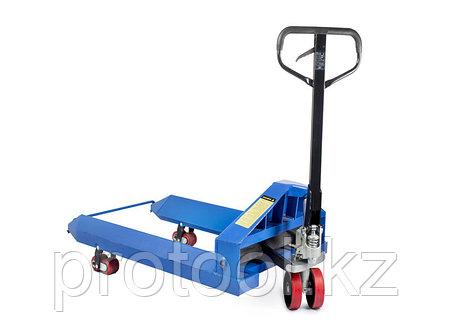 Тележка гидравлическая TOR ZT 2.5T - 1150*1150 для рулонов (полиуретановые колеса), фото 2