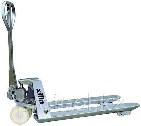 Тележка гидравлическая XILIN г/п 2500 кг BFS стальная (нейлон.колеса), фото 2