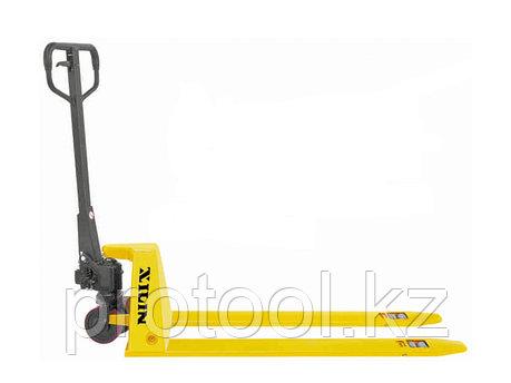 Тележка гидравлическая XILIN г/п 1500 кг BFL15 низкопрофильная (полиуретан.колеса), фото 2