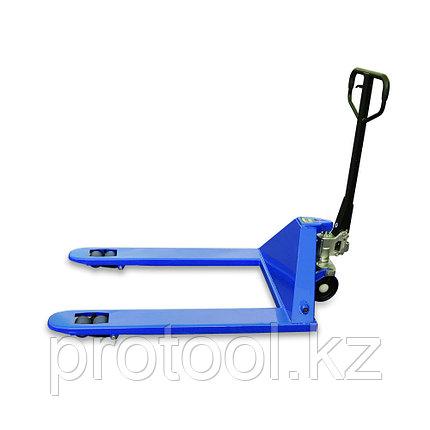 Тележка гидравлическая TOR RHP 2500, 1220х685 мм широковильная (полиуретан.колеса), фото 2