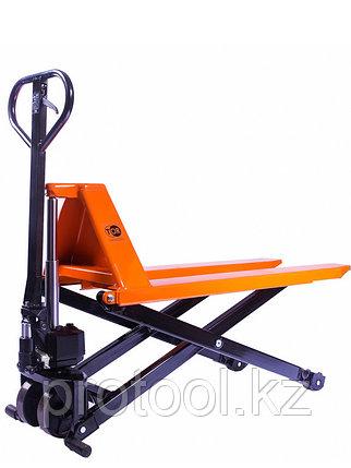 Тележка гидравлическая 1000 кг TOR JF с ножничным подъемом (полиуретан.колеса), фото 2