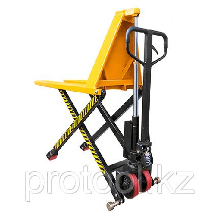 Тележка гидравлическая 1000 кг XILIN JF с ножничным подъемом (полиуретан.колеса), фото 2
