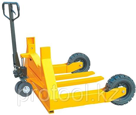 Тележка гидравлическая TOR HW 1500 для бездорожья (резин.колеса), фото 2