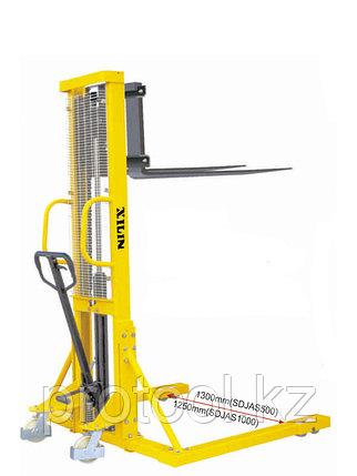 Штабелер ручной гидравлический с расширенными опорами XILIN г/п 1,0 т 1,6 м SDJAS1000, фото 2