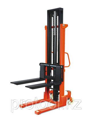 Штабелер ручной гидравлический с раздвижными вилами TOR 320-870 мм CTY-EH 1.5TX2.0M, фото 2