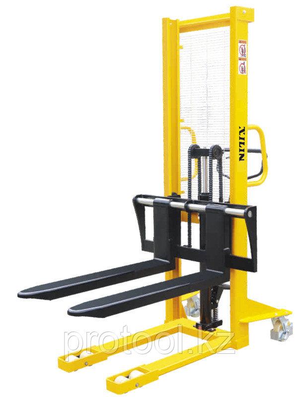 Штабелер ручной гидравлический с раздвижными вилами XILIN г/п 1,5 т 1,6 м 310-930 мм SDJA1500-I