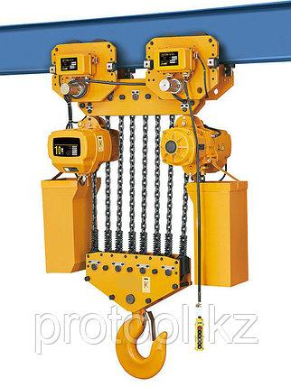 Таль электрическая цепная TOR ТЭЦП (HHBD10-04T) 10,0 т 6 м 380В, фото 2