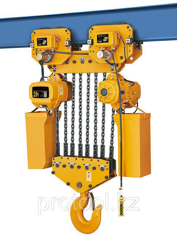 Таль электрическая цепная TOR ТЭЦП (HHBD10-25T) 25,0 т 6 м 380В
