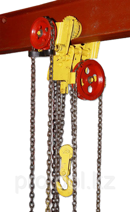 Таль ручная червячная передвижная TOR ТРЧП 3,2 т 12 м ВБИ, фото 2